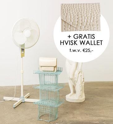 Hvisk Cayman Pocket Soft Offwhite + gratis Hvisk Wallet t.w.v. €25