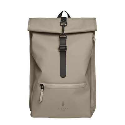 Rains Roll Top Backpack Taupe