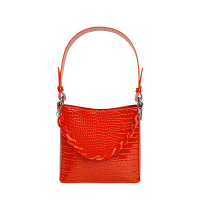 Hvisk Amble Croco Small Orange/Red
