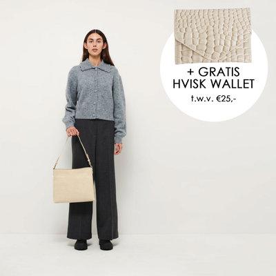 Hvisk Amble Croco Soft Offwhite + gratis Hvisk Wallet t.w.v. €25