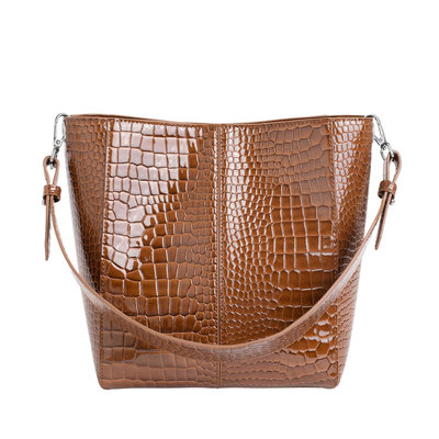 Hvisk Casset Medium Croco Brown