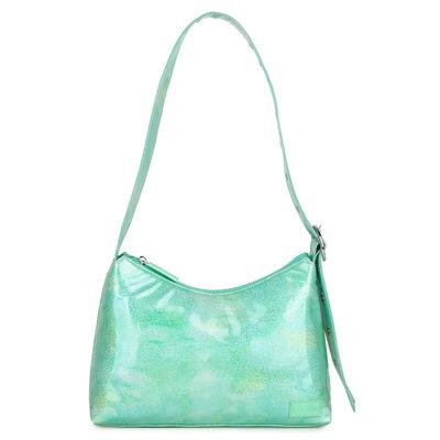 Daniel Silfen Shoulder Bag Ulrikke Glitter Watergreen