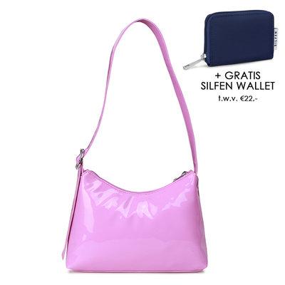 Daniel Silfen Shoulder Bag Ulrikke Patent Light Purple