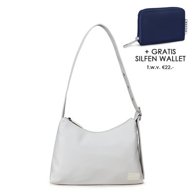 Daniel Silfen Shoulder Bag Ulrikke Nylon White