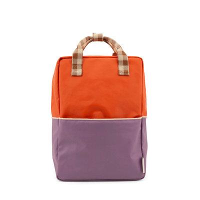 Sticky Lemon Large Backpack Colourblocking Orange Juice + Plum Purple + Schoolbus Brown