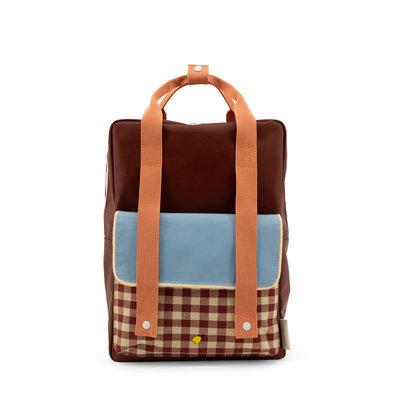 Sticky Lemon Large Backpack Gingham Cherry Red + Sunny Blue + Berry Swirl