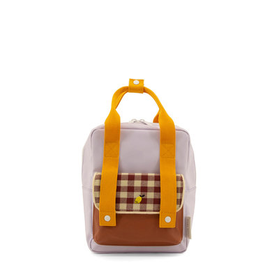 Sticky Lemon Small Backpack Gingham Chocolate Sundae + Daisy Yellow + Mauve Lilac