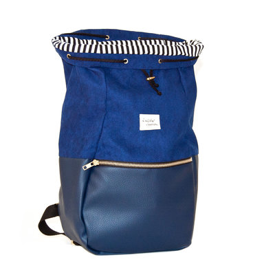 Kaliber Fashion Backpack Love & Soul night blue