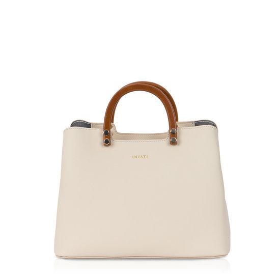 Inati Top Handle Bag Cream