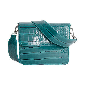 Hvisk Cayman Shiny Strap Bag Blue Voorkant