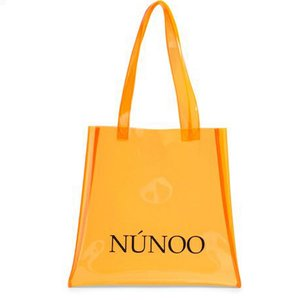 Núnoo small Transparent tote orange Voorkant