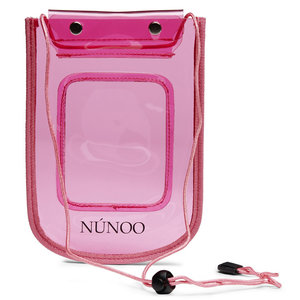 Núnoo Beach Wallet Transparent pink voorkant