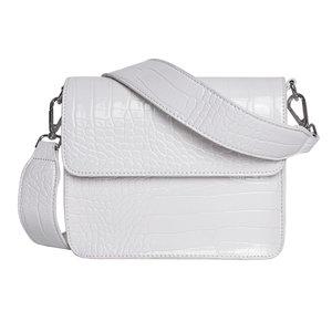 Hvisk Cayman Shiny Strap Bag white voorkant