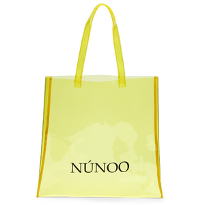Núnoo large Transparent tote yellow