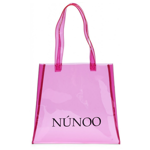 Núnoo small Transparent tote pink voorkant