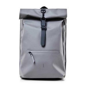 Rains Original Roll Top Backpack Charcoal voorkant