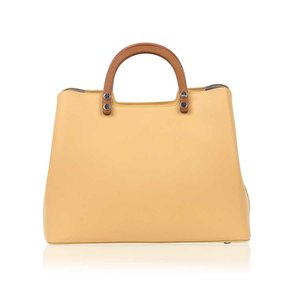 INYATI Inati Top Handle Bag Vanilla Yellow voorkant