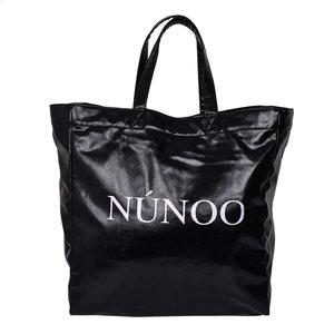 Nunoo Big ToteVeggie Black voorkant