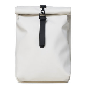 Rains Roll Top Mini Backpack Off White