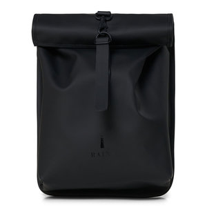 Rains Roll Top Mini Backpack Black