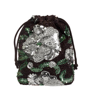 Hvisk Pouch Water Lily Bead Black
