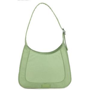 Daniel Silfen Shoulder Bag Siri Nylon Green Ash
