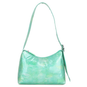 Daniel Silfen Shoulder Bag Ulrikke Glitter Watergreen