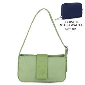 Daniel Silfen Handbag Yasmin Nylon Green Ash