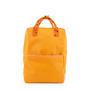 Sticky Lemon Large Backpack Freckles Sunny Yellow + Carrot Orange + Candy Pink