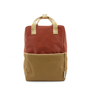 Sticky Lemon Large Backpack Colourblocking Fig Brown + Apple Tree + Vanilla Sorbet