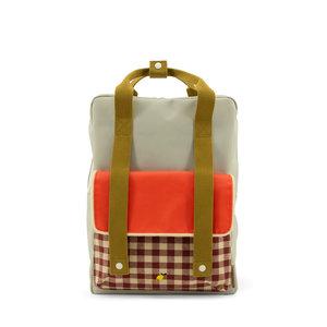 Sticky Lemon Large Backpack Gingham Pool Green + Apple Red + Leaf Green