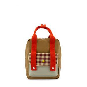 Sticky Lemon Small Backpack Gingham Pool Green + Apple Red + Leaf Green