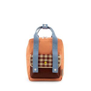 Sticky Lemon Small Backpack Gingham Cherry Red + Sunny Blue + Berry Swirl