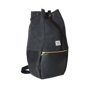 Kaliber Fashion Backpack Love & Soul Black Zijkant Dicht