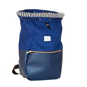 Kaliber Fashion Backpack Love & Soul Night Blue Voorkant Open Binnenvoering