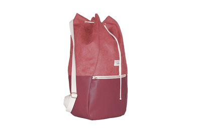 Kaliber Fashion Backpack Love & Soul Rose Zijkant Dicht