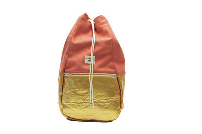 Kaliber Fashion Backpack Apricold Voorkant Dicht