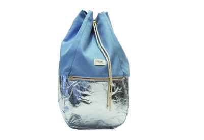 Kaliber Fashion Backpack Iceblue Voorkant Dicht