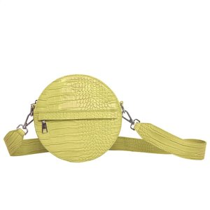 Cayman Circle bag Chartreuse Yellow Voorkant