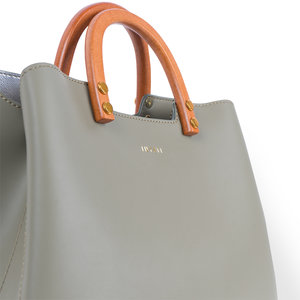 Inati Top Handle Bag Olive Grove details