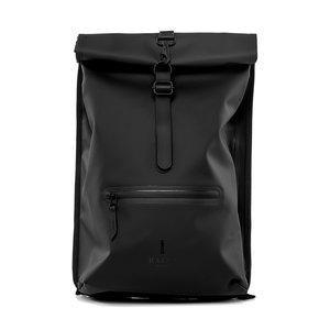 Rains Original Roll Top Backpack Black Voorkant