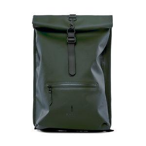 Rains Original Roll Top Backpack Green Voorkant