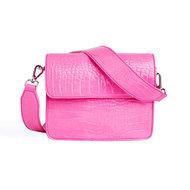 Hvisk Cayman Shiny Strap Bag Pink Voorkant