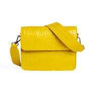 Hvisk Cayman Shiny Strap Bag Yellow Voorkant